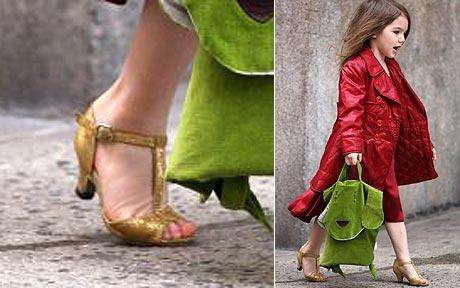 Toddlers in Heels - Katie Holmes Dresses Daughter Suri Cruise in High Heels