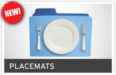 Geektastic Tableware - These Mac Folder Placemats Aren't Meant to Store Files