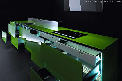 Super Glass Cuisines - Hugo Kitchen Reveals the Earth-Friendly Valcucine Glass Kitchen