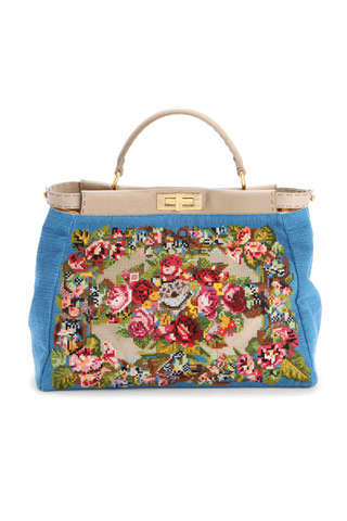 Luxury Grandma Totes - The Embroidered Fendi Spring/Summer 2010 Handbags
