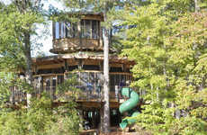 Treetop Playgrounds - The Camp Twin Lakes Treehouse Educates Children About Sustainability