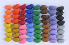 Stone-Shaped Coloring Tools - Motor Skill Developing, Eco-Friendly Crayon Rocks