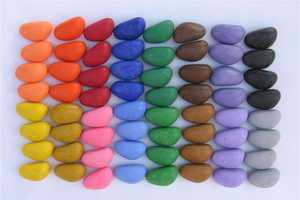 Motor Skill Developing, Eco-Friendly Crayon Rocks