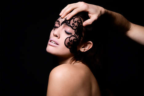 Lace Faces - 'Private Dance' by Monica Antonelli Gives Makeup a Lingerie Twist