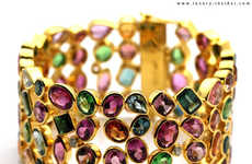 Chromatic Crown Rings - The Tresor 2010 Collection Dazzles With Rainbow Gems