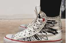 Doodled Sneaks - The Newest Edition to the Converse Red Collection Fights Aids