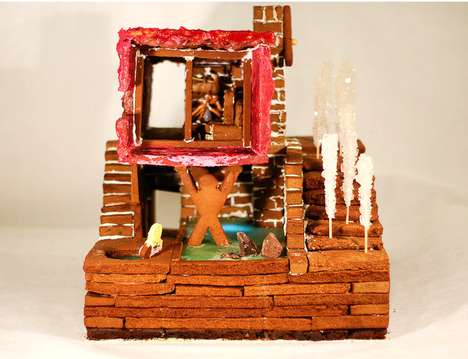 Modernist Gingerbread Houses