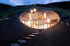 Burrowing Eco Abodes - The Underground Vals House Lets in Light and Views
