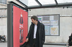 Sticky Advertising - Velcro Ads Used to Promote the Coca-Cola Grip Bottle