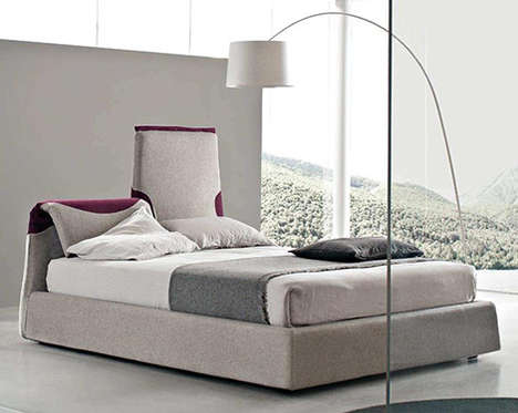 Bendy Headboards - The Italian Contemporary Bed is Perfect for Reading and Watching Tv