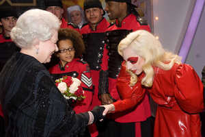 Lady Gaga Meets the Queen at UK's Royal Variety Performance