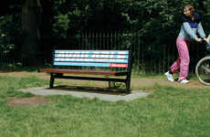 Mobile Billboard Benches - Finn Magee Turns Outdoor Seating to Moving Advertisement