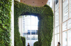 Towering Indoor Gardens - The Bryant Park Urban Garden Room in New York City