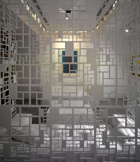 Lattice-Like Interiors - The Delhi Art Gallery's Reconfigurable and Flexible Walls