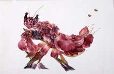Intricate Floral Insects