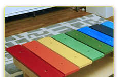 Musical Kiddie Tables - The Rainbow Coffee Table Looks Great and Makes Music
