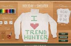 Create Wonderful Wintry Holiday Sweaters Online