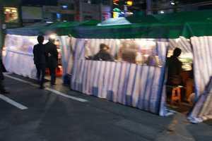 Cozy Tents as Restaurant Alternatives in Seoul