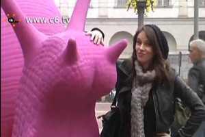 Colorful Plastic Snails Invade Milan