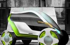 Slim Futuristic Vehicles - The Flur Car is Electronically Controlled