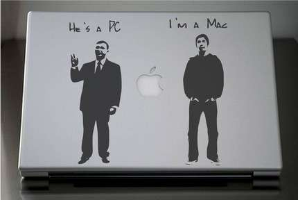 Rival Computer Decals - The PC vs Mac Vinyl Sticker Decal for Apple Lovers