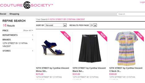 Social Shopping Sites - Couture Society Combines Online Shopping With Social Networking