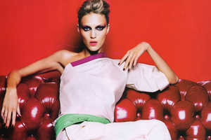 Anja Rubik Models 'Hits From the Collections' for Harper's Bazaar