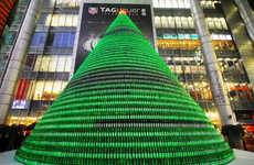 Beer Bottle Christmas Trees - Heineken Builds 1000 Bottle Tree, I Weep Tears of Joy