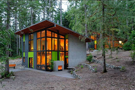 Sustainable Cabin Architecture - Johnson Architects Present the Schell-Wheeler House in the Cascades