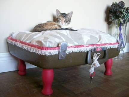 Upcycled Suitcase Pet Beds