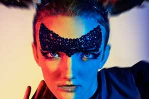 'MIMI C' by Ausra Osipaviciute Blends 80s Glam with Mardi Gras Masks for 'Silves