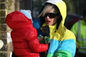 Gwen Stefani's Winter Jacket Has a Retro Television Feel