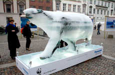 Evaporating Polar Bears - Melting Bear in Copenhagen Creates Climate Change Awareness