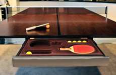 Playful Worktables - Table and Tennis Will Get Work Done in a Fun Style