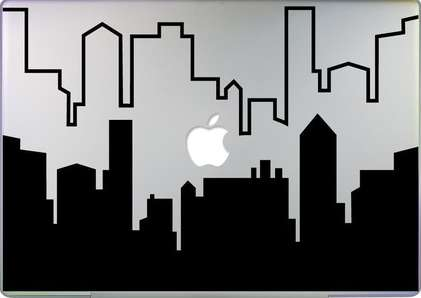 Cityscape Laptop Decals - Customize Your Mac With These Fun Sticker Designs