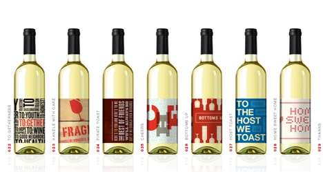 Wine Bottle Greetings - Toast-Its Greetings are Cards that Act Like Wine Labels