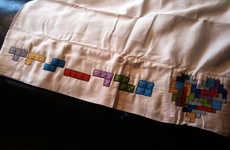 Geeky Bedding - The Tetris Pillowcase Will Have You Dreaming of Odd Shapes