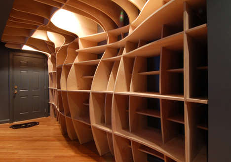 Surrealist Closet Design - A Gaudi-Worthy Bookshelf by DBD Studio