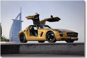 The 2010 Mercedes-Benz SLS AMG Desert Gold