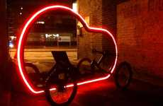Glowing Bike Rides - Artikcar by Ben Wilson Makes Reflectors Obsolete