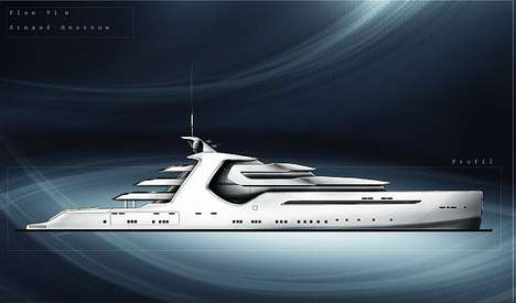 Futuristic Luxury Cruisers - The AA Super Yacht by Arnaud Answeeuw Offers the Best in Tech