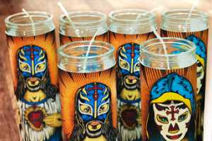 'Our Lady of Lucha Libre' Candles by Pale Horse.