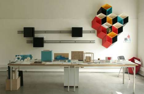 3d Illusion Shelves - The Bjorn Jorund Blikstad Imeuble is Inspired by the Rubik's Cube