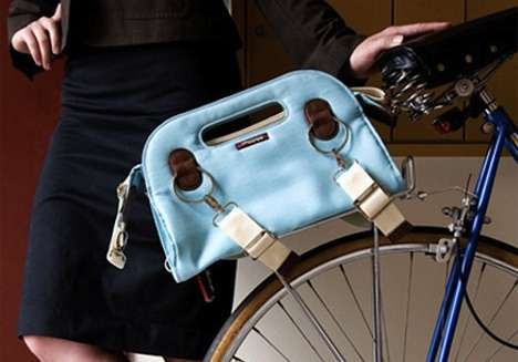 Convenient Bicycle Carryalls - The Handlebar and Bike Rack Bags by Po Campo