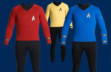 Nerdy Surf Gear - Star Trek Wetsuits Powerful Enough to Make Surfing Look Uncool