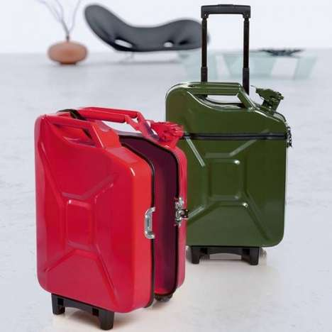 Gas Can Luggage - Upcycling Jerry Cans for the Stylish Traveler
