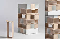 Jenga Furniture - Zen Collection by Jung Jae Yup is Made of Modular Blocks