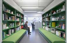 Green-Eyed Workspaces - The Langland Office Inspires Through Blocks of Color