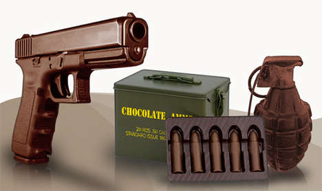 Chocolate Weapons - Explosively Sweet Treats Shaped like Guns, Ammo and Grenades