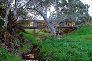 The Bridge House is Nestled in the Trees of Rural Austrailia